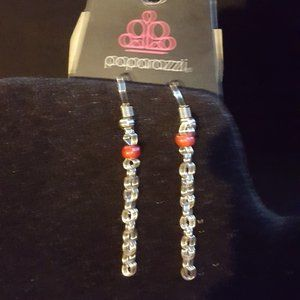 Paparazzi Jewelry - Paparazzi Red and Silver Necklace Set